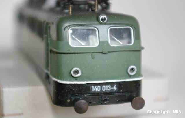 BR 140 013 - Eigenumbau Führerstand 2 von 5 auf 3 Lampen