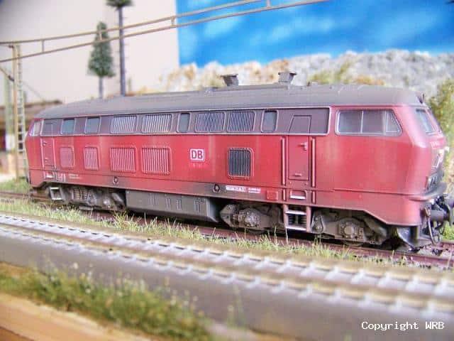 BR 218 141 Betriebsverschmutzung mit Umbauten