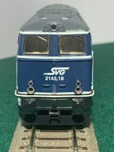 BR 2143.18 der SVG auf Basis Kleinbahnmodell