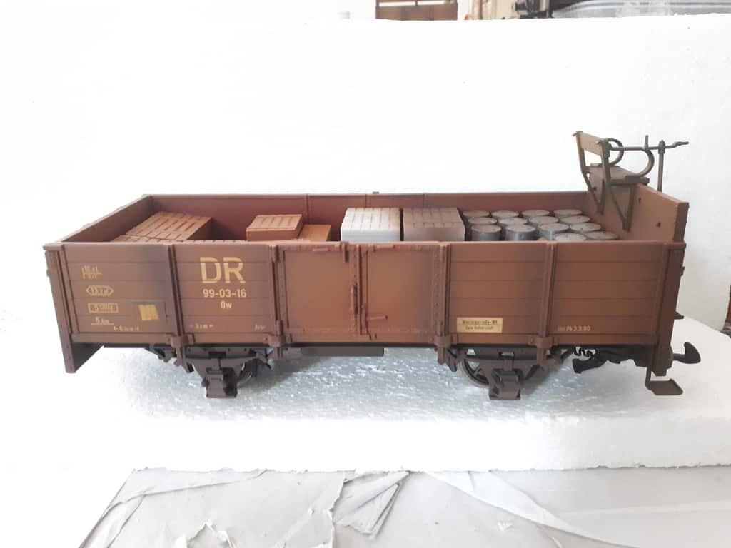 LGB offener Güterwagen gealtert DR