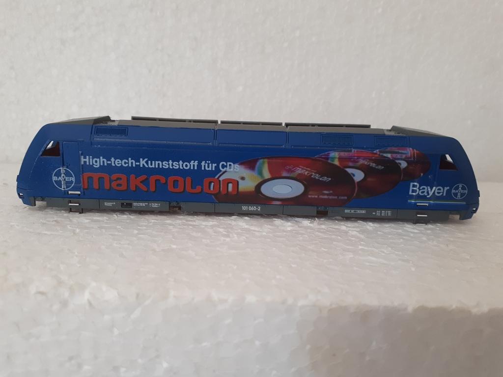 Umgestaltung Basis Tillig BR 101 in BR 101 050 Makrolon